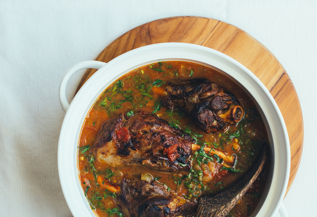 Lamb Shank with Saffron recipe