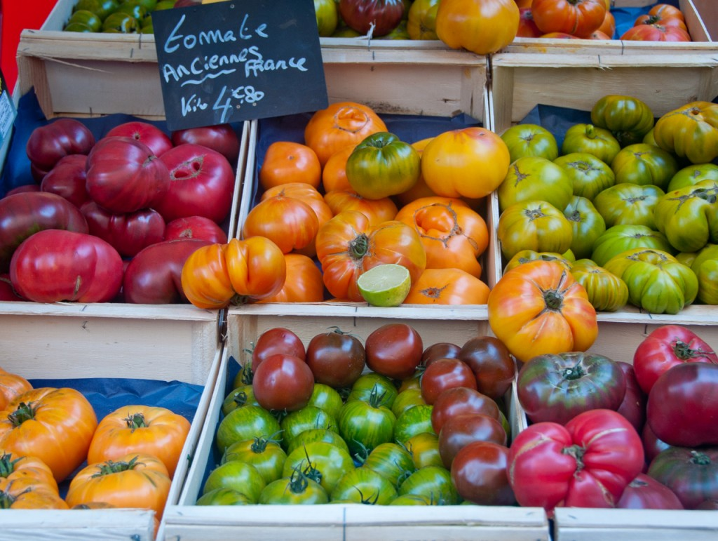 Fresh produce on a Paris market tour