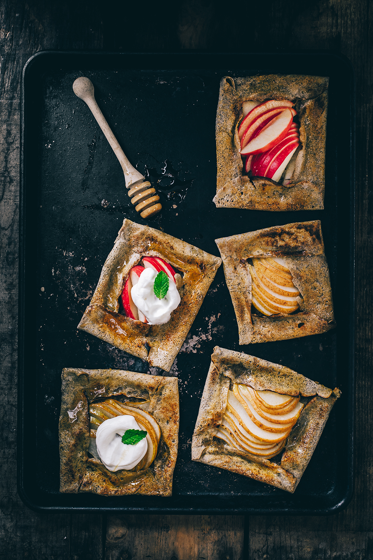 Pear and Apple Buckwheat Crêpe Galettes