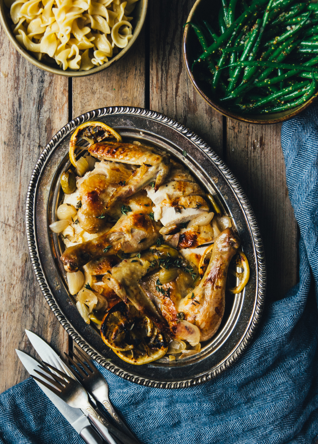 Pot Roasted Chicken with Preserved Lemon and Olives